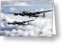 Flying Lancasters Greeting Card