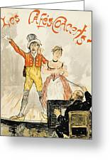 France Paris Poster Of Stage Performance At Cafe Chantant Greeting Card