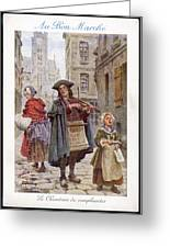 French Street Musicians -  Fiddler Greeting Card