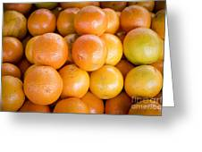 Fresh Oranges On A Street Fair In Brazil Greeting Card by Ricardo Lisboa