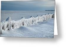 Frozen Pier Greeting Card