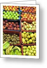 Fruit Assisi Italy Market Greeting Card