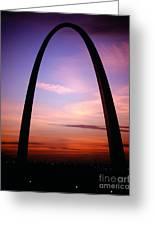 Gateway Arch Sunrise Greeting Card