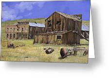 Ghost Town Of Bodie-california Greeting Card
