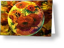 Van Globing Inflorescence Greeting Card