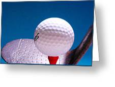 Golf Greeting Card by David and Carol Kelly