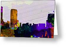 Grand Rapids City Skyline Greeting Card