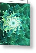 Green Magic Greeting Card