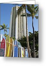 Hawaiian Surf Board's  Greeting Card