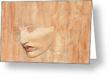 Head Of Proserpine Greeting Card