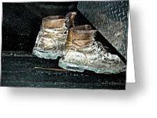 His Work Boots Greeting Card