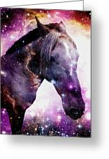 Horse In The Small Magellanic Cloud Greeting Card by Anastasiya Malakhova