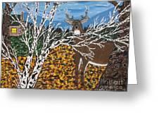 Hunter's Deer Camp Greeting Card