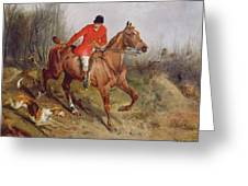 Hunting Scene Greeting Card