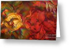 Impressionistic Bouquet Of Red Flowers Greeting Card