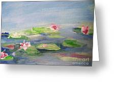 Impressionistic Lilies Monet Greeting Card
