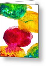 Interactions 1 Greeting Card by Amy Vangsgard