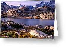 Island Lake And Wind River Range Greeting Card