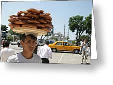 Istanbul Kulouria Seller Greeting Card