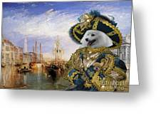 Japanese Spitz Art Canvas Print Greeting Card