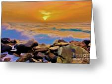 Jeddah Sunset Greeting Card by George Paris