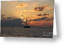 Marelous Key West Sunset Greeting Card