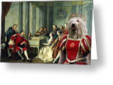Komondor Art Canvas Print - Sextet Greeting Card