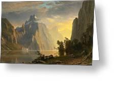 Lake In The Sierra Nevada Greeting Card