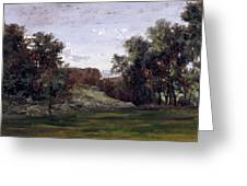 Landscape Near The Monastery Piedra. Aragon Greeting Card