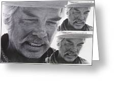 Lee Marvin Monte Walsh Variation #3 Collage Old Tucson Arizona 1969-2012 Greeting Card