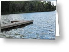 Left Boat Dock Greeting Card