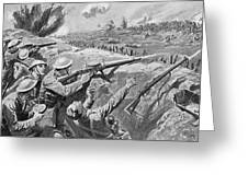 Lewis Gun In The British Trenches Greeting Card