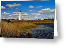 Lighthouse At The Water Greeting Card