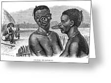 Lip-rings Of Two African  Native Women Greeting Card