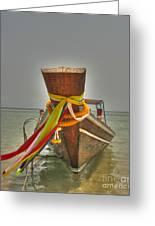 Long Tail Boat Greeting Card