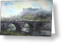 Ludlow Castle In A Mist Greeting Card