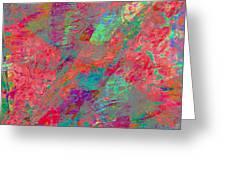 Magenta Poppy Rock Greeting Card