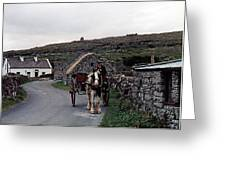 Making A Living On Inishmore - Aran Islands - Ireland Greeting Card