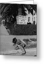 Man From Monterey Homage 1933 Sleeping Cowboy Tucson Arizona 1984 Greeting Card