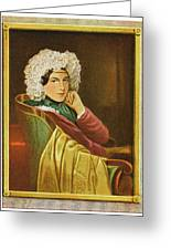 Marie Daffinger  Wife Of Artist Greeting Card