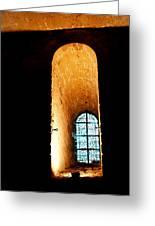 Meditation - Deep Window Mont St Michel Greeting Card