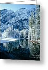 Merced River Reflection 2 Greeting Card