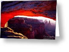 Mesa Arch Sunrise 2 Greeting Card