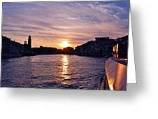Mia Pervinca Murano Sunset  Greeting Card