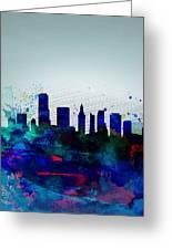 Miami Watercolor Skyline Greeting Card