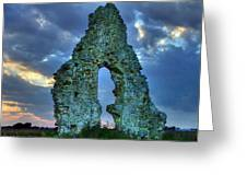 Midley Church Ruins At Dusk Greeting Card