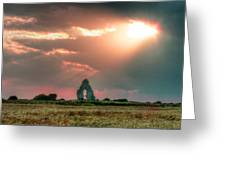 Midley Church Ruins At Sunset Greeting Card