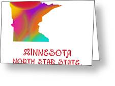 Minnesota State Map Collection 2 Greeting Card