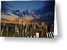 Morning Predawn  Avon Pier 7/26 Greeting Card