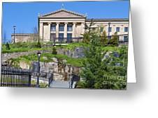 Museum Of Art Philadelphia Pa Greeting Card by David Zanzinger